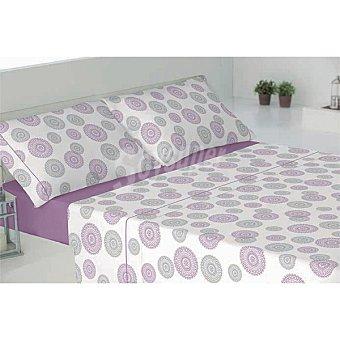 CASACTUAL Cáceres Juego de cama con dibujo de círculos en color malva