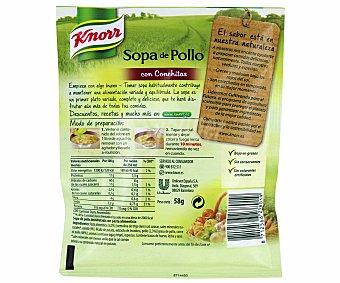 Knorr Sopa de pollo con conchitas, sobre de 85 gramos 58g