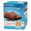 Barritas sustitutivas de comidas sabor a chocolate crujiente 210 g Carrefour