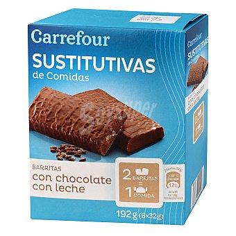 Carrefour Barritas sustitutivas de comidas sabor a chocolate crujiente 210 g