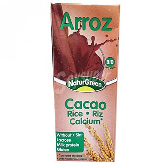 Naturgreen Bebida de arroz, chocolate y calcio 200 ml