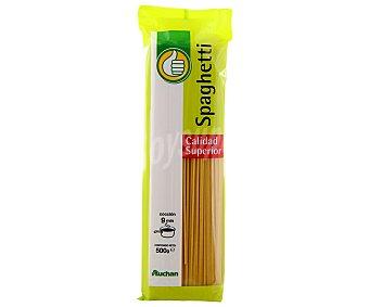 Productos Económicos Alcampo Espaguetis, pasta de sémola de trigo duro de calidad superior Paquete de 500 gramos