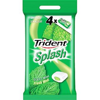 Trident Chicles splash de menta verde sin azúcar con relleno líquido Pack 4 envases 13,2 g