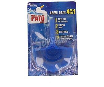 Pato Desinfectante wc Agua Azul 3 en 1 aparato + recambio Blister 1 ud