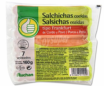 Productos Económicos Alcampo Salchicha frankfurt 5 unidades 160 gramos