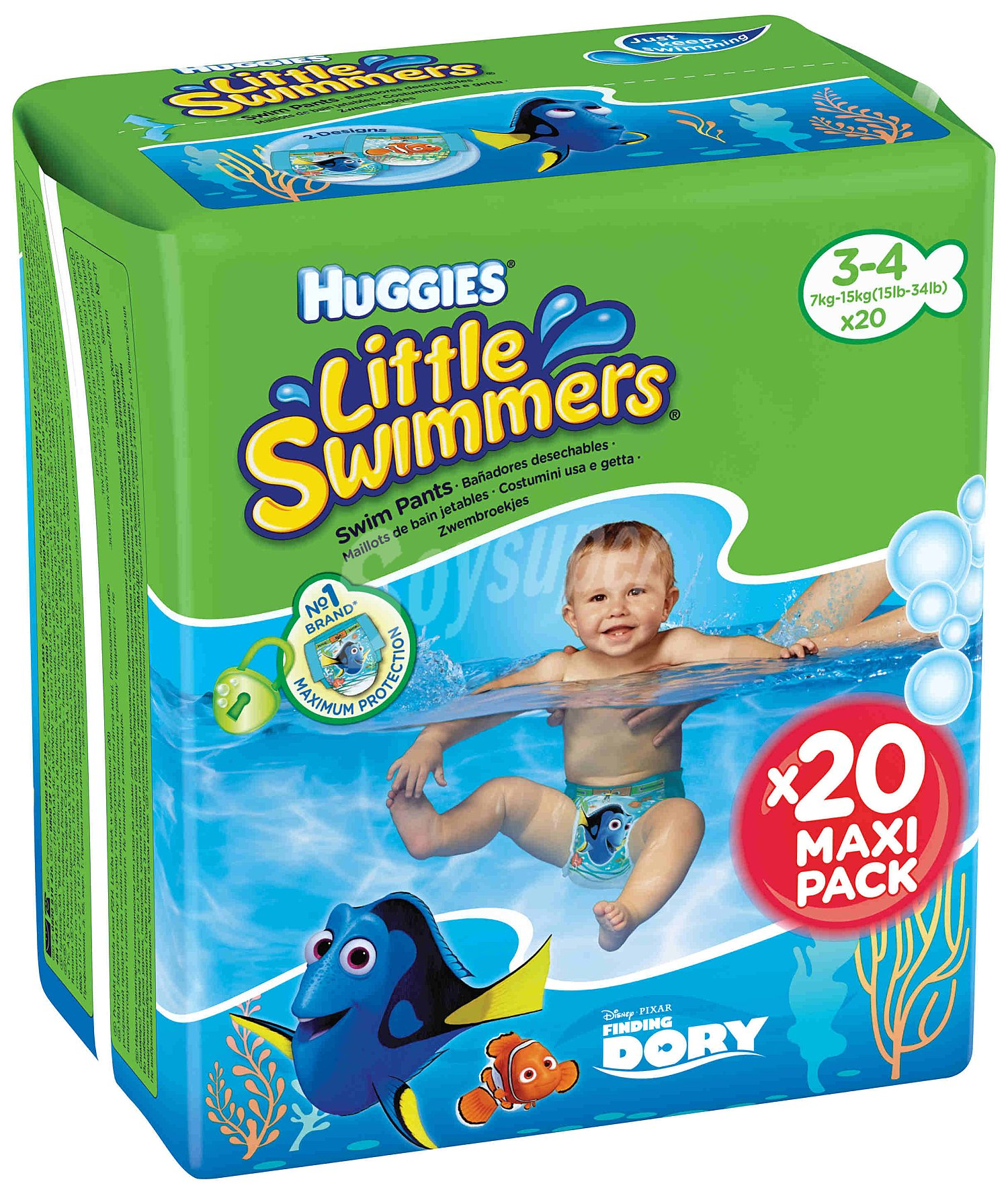 df2601813 Little Swimmers Huggies Pañales bañador talla 4