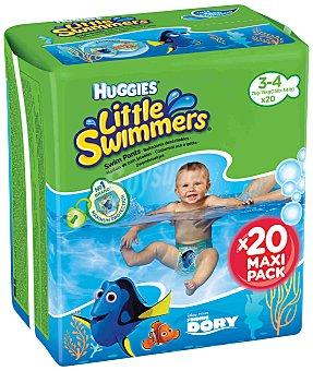 Huggies Little Swimmers Bañador desechable Maxipack 3-4 años, 7-15 kg  Paquete 20 unidades