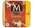 Helado de chocolate con leche y almendras Envase 660 ml (6 uds) Frigo Magnum