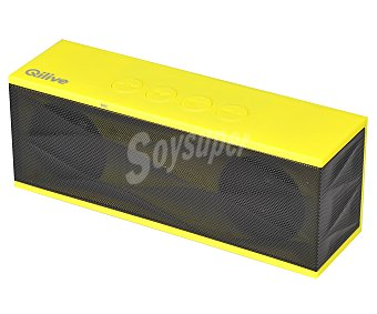 QILIVE DC402 Mini altavoz 853702 por batería, conexión usb, 3,5(mm), Bluetooth, color amarillo