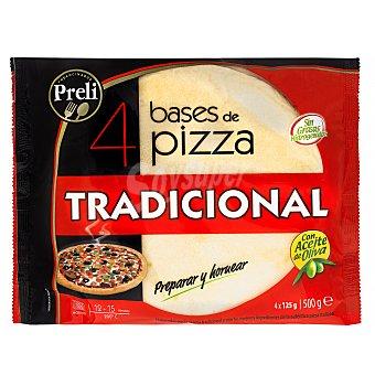 Preli Base pizza congelada masa fina Pack 4 u (500 g)