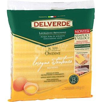 DELVERDE Placas de lasaña al huevo Paquete 500 g