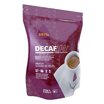 Delta Cafés Café molido de tueste natural y torrefacto descafeinado 250 g