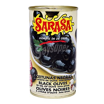 Sarasa Aceituna negra aceitunas especiadas 150 g