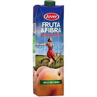 Juver Fruta-fibra sabor melocotón Brik 1 litro