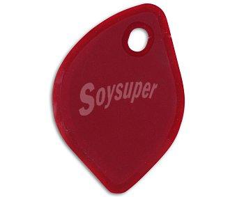 Auchan Espátula de repostería fabricada en silicona de color rojo 1 Unidad