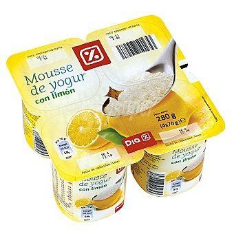 DIA Mousse yogur limón pack 4 unidades 70 g Pack 4 unidades 70 g