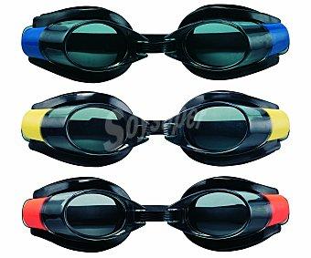 KRAFWIN Gafa de natación modelo Pro Racer, con sistema anti uva, montura de espuma EVA con cinta regulable, puente nasal ajustable y lente irrompible 1 unidad