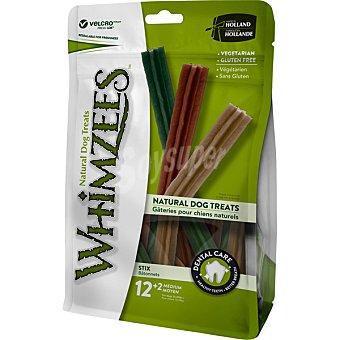 Whimzees Snacks dentales para perros medianos en forma de stick 12+2 unidades envase 420 g 12+2 unidades