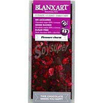 BLANXART Tableta choco negro 60% sin azucar & cereza 100 g