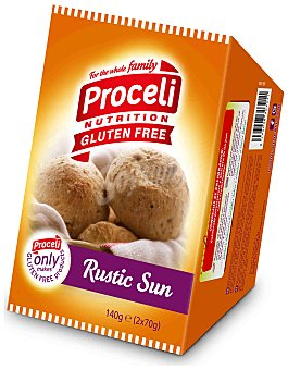 Proceli Pan Integral Sin Gluten Rustic Sun proceli (2 unidades) 140 gr