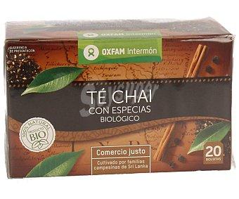 Intermón Oxfam Té chai con especias biológico 40 gramos
