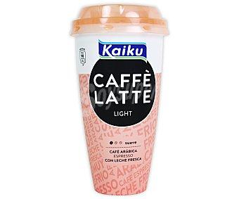 Kaiku Caffe latte light liquido (cafe con leche sin azucar añadido) Vaso 230 cc