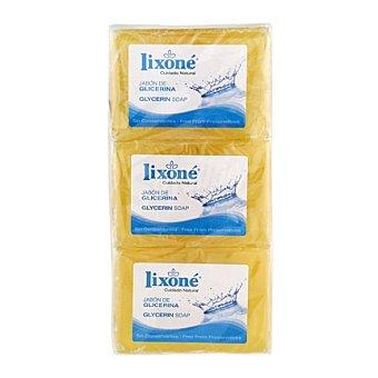 Lixone Jabón de manos en pastilla glicerina natural 375 g
