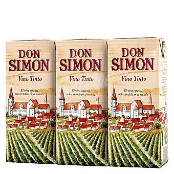 Don Simón Vino tinto de mesa 3 x 200 ml