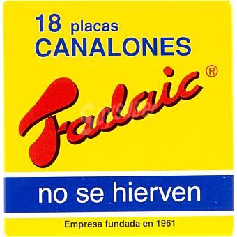 Fadaic Canelones 18 placas Caja 80 g