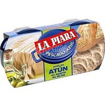 La Piara Paté de atún en aceite pack 2+1x75 g