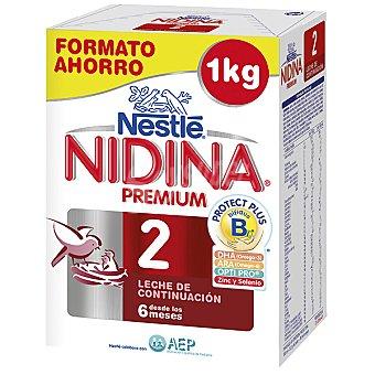 Nidina Nestlé Leche  Premium 2 de continuación en polvo desde los 6 meses...