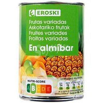 Eroski Frutas variadas en almíbar Frasco 240 g