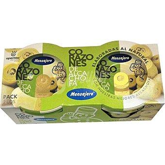 Mensajero Corazones de alcachofa 6-9 piezas al vacio Pack 2 envase 180 g