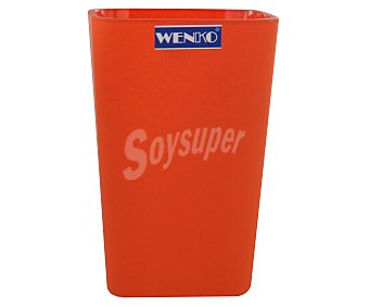 WENKO Vaso porta cepillos color naranja, modelo Rainbow 1 Unidad