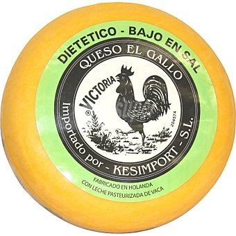 El Gallo Queso gouda dietético holandés  4 kg (peso aproximado pieza)