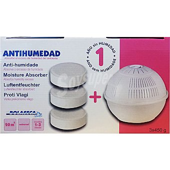 BOLA SECA Antihumedad dispositivo + 3 tabletas neutras 1 Pack
