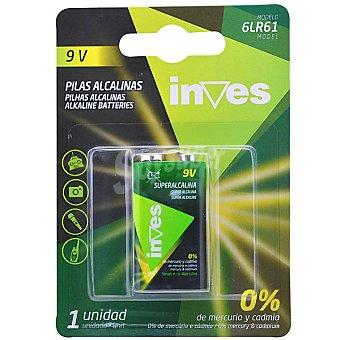 INVES 6LR61 9V Pila alcalina de petaca blister 1 unidad