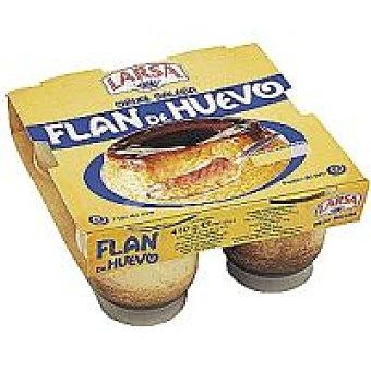 Larsa Flan de huevo Pack 4x125 g