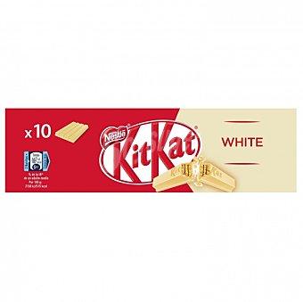 Kit Kat Nestlé Barrita de galleta crujiente bañada en chocolate blanco Pack de 10 unidades de 41,5 g