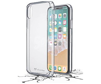 Cellular Line Funda compatible con iphone X (teléfono no incluido) Clear Duo