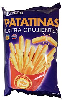 Hacendado Aperitivo palitos patata extracrujiente (patatinas) Paquete 120 g