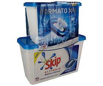 Skip Detergente en cápsulas doble acción con gel líquido y en polvo para lavadora 41 c
