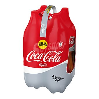 Coca-Cola Refresco de cola Light Pack 4x2,20 l