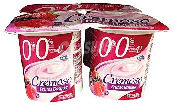 HACENDADO Yogur desnatado cremoso frutas del bosque 4 unidades de 125 g (500 g)