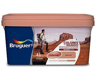 BRUGUER Pintura plástica monocapa de interior, de color malva Colorado y acabado mate, de la serie Colores de mundo 4 litros