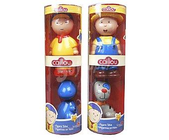Giochi preziosi Pack de 2 figuras en cilindro, Caillou más mascota 1 unidad