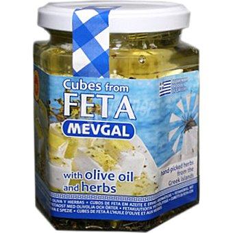 MEVGAL Cubitos de queso feta con finas hierbas Tarro 280 g
