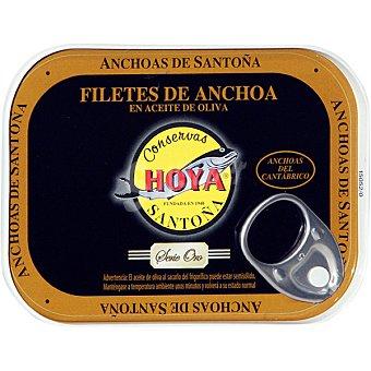 HOYA SERIE ORO Filetes de anchoa del Cantábrico en aceite de oliva elaboración artesana  lata 50 g neto escurrido