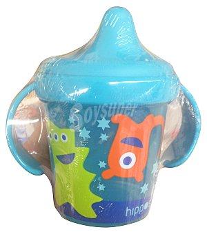 HIPPOS Vaso bebe antigoteo color azul 1 unidad