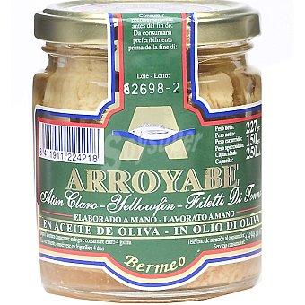 Arroyabe Atún claro en aceite de oliva elaboración artesanal Frasco 150 g neto escurrido